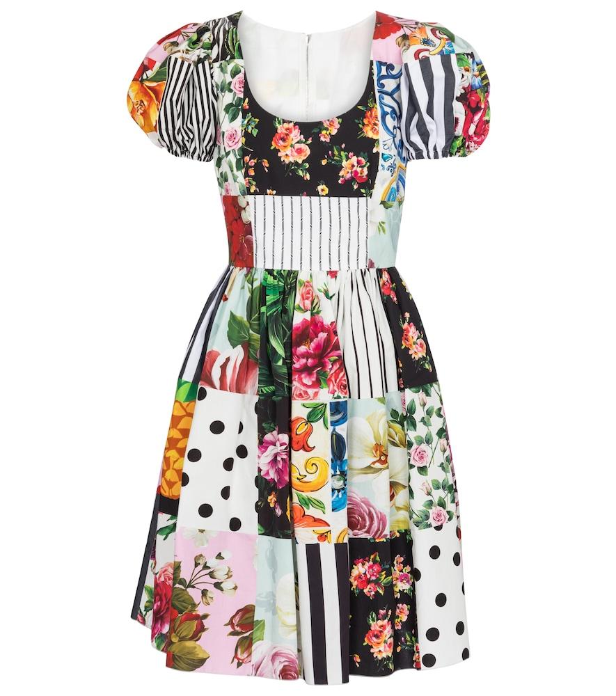 Printed cotton minidress