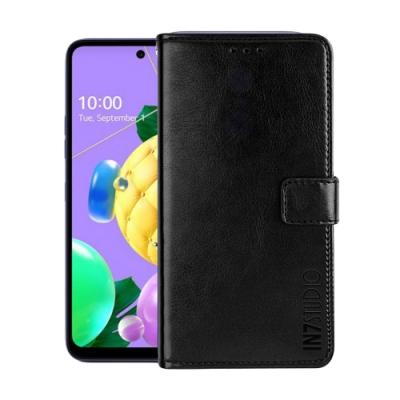 IN7 瘋馬紋 LG K52 (6.6吋) 錢包式 磁扣側掀PU皮套 吊飾孔 手機皮套保護殼