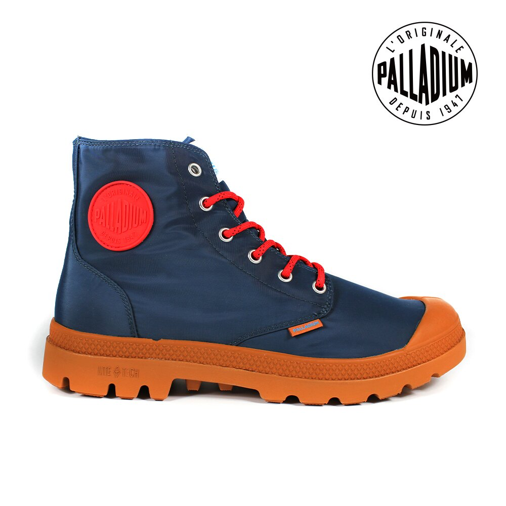 PALLADIUM PAMPA PUDDLE LITE+ WP+輕量防水靴-中性-藍/土黃