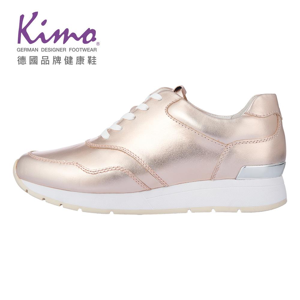Kimo耀眼奢華運動風平底休閒鞋 女鞋(玫瑰金K18WF116085)
