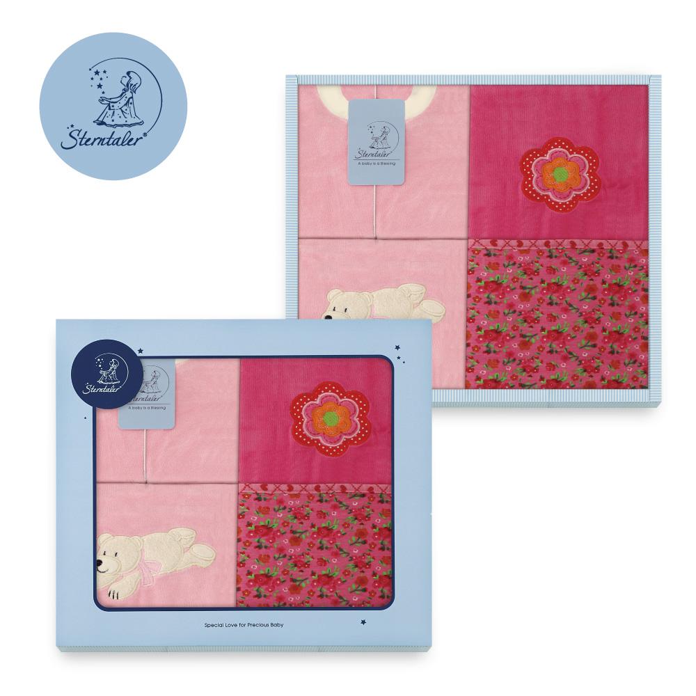【彌月禮推薦】STERNTALER 艾拉熊粉兔裝附花趣雙面毯禮盒/彌月禮盒 C-5601508-P0-GIFT