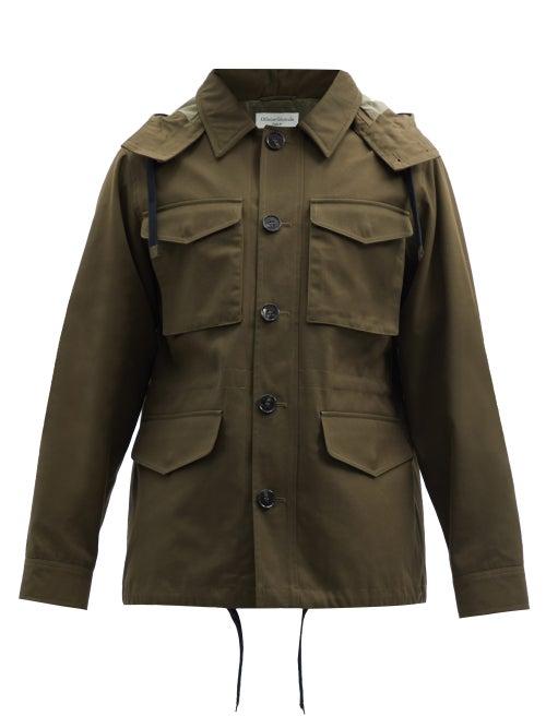 Officine Générale - Aristide Detachable-hood Canvas Jacket - Mens - Khaki