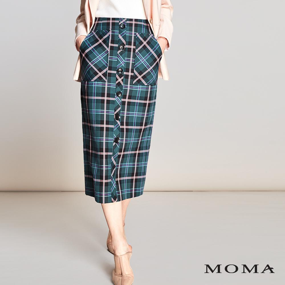 MOMA(01S058)格紋直筒裙