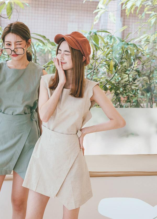 【現貨】小韓妞純色套裝