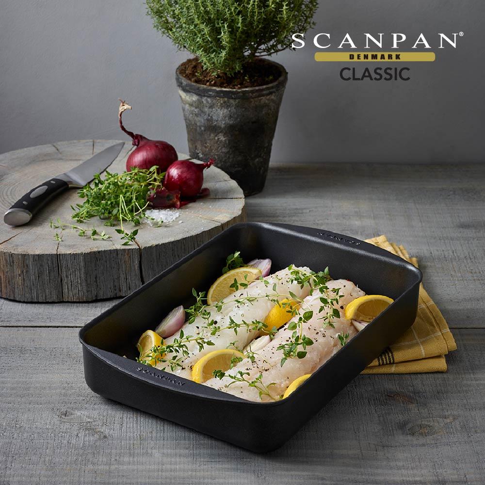 【Scanpan】經典系列 烘烤盤34*22cm+26*19CM烘烤盤用滴油架