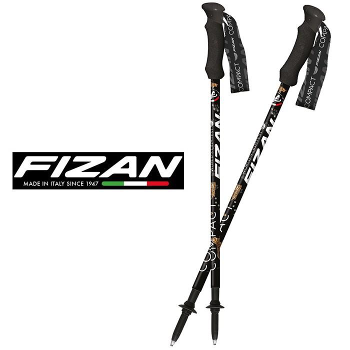 【FIZAN 義大利】超輕三節式健行登山杖 單支 貓咪 (FZS21.7102.WLC)
