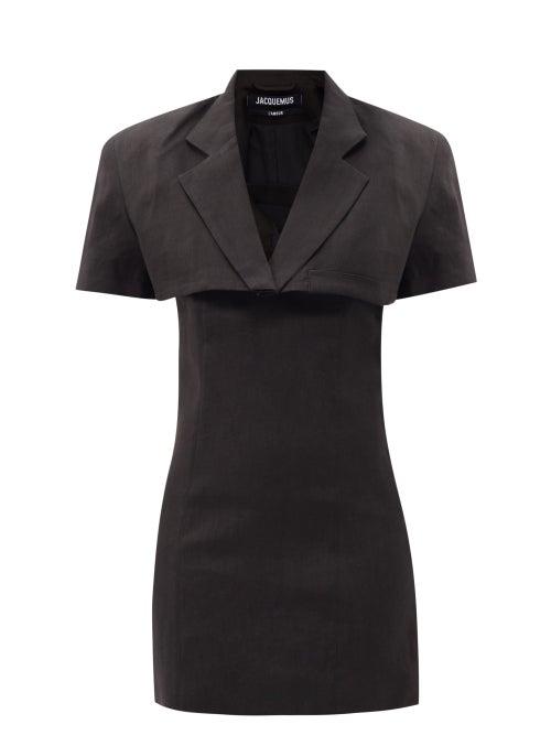 Jacquemus - Gardian Cropped-blazer Mini Dress - Womens - Black