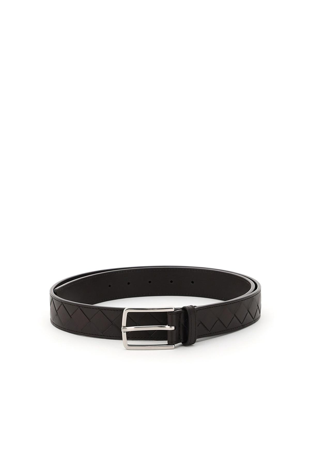 BOTTEGA VENETA INTRECCIATO 15 BELT 110 Black Leather