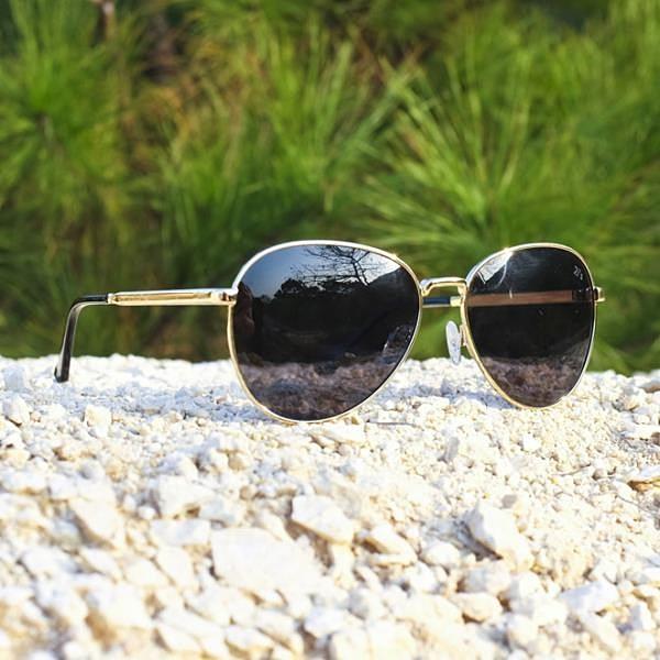 【南紡購物中心】2is MonD 太陽眼鏡 偏光│橢圓大框│金色│抗UV400