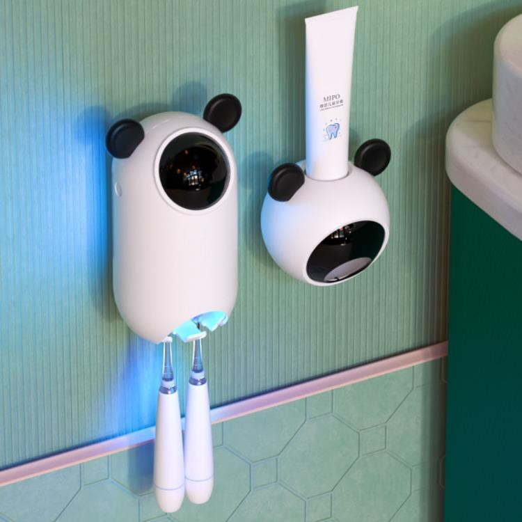 智慧兒童牙刷消毒器紫外線免打孔衛生間殺菌壁掛式置物架電動吸壁 【全館免運】