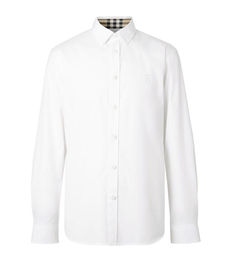 Burberry Tb Monogram Stretch-Cotton Shirt