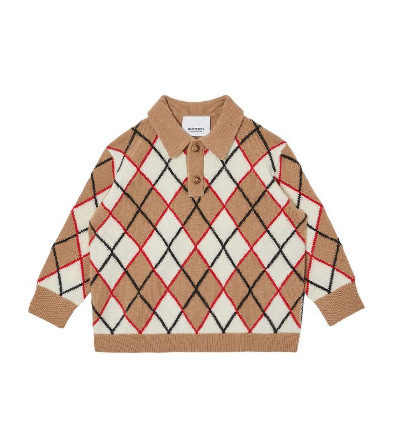 Burberry Kids Argyle Print Polo Shirt (6-24 Months)