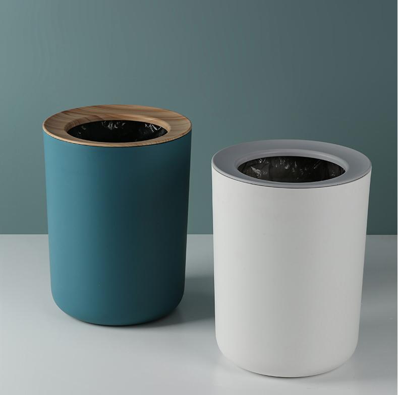 北歐輕奢客廳家用簡約客廳垃圾桶創意無蓋帶壓圈廁所辦公室小紙簍