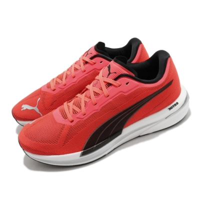 Puma 慢跑鞋 Velocity Nitro 運動 男鞋 輕量 透氣 舒適 避震 路跑 健身 紅 黑 19459601