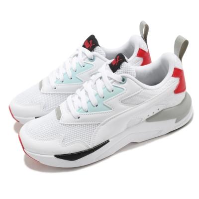 Puma 休閒鞋 X Ray Lite 運動 男女鞋 經典款 舒適 簡約 情侶穿搭 球鞋 白 紅 37412212