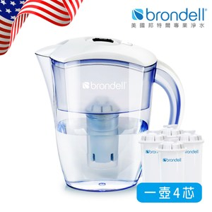 【Brondell】美國邦特爾極淨白濾水壺+4芯