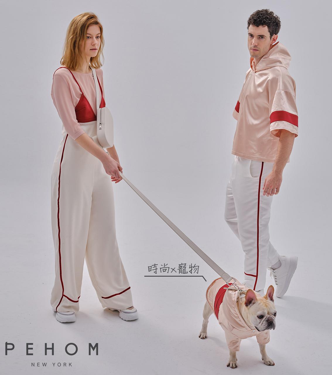 經典時尚 PEHOM 粉红拼口袋運動帽衫 寵物運動衫 寵物運動衣 寵物衣服 狗狗衣服 寵物外出服 寵物衣 美國品牌