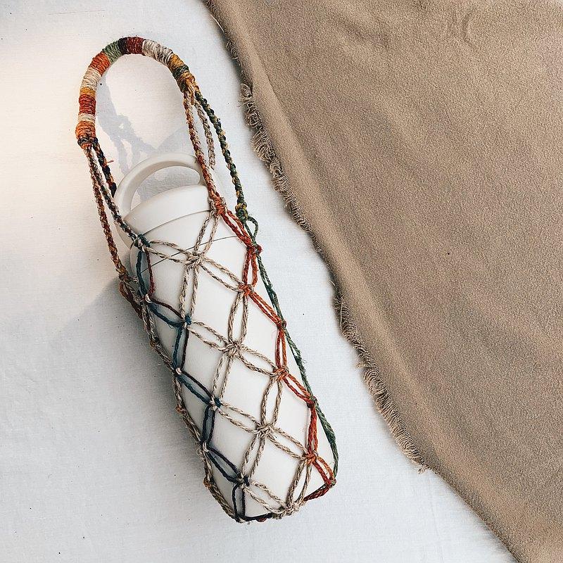 編織飲料 / 水壺提袋 彩虹 原色