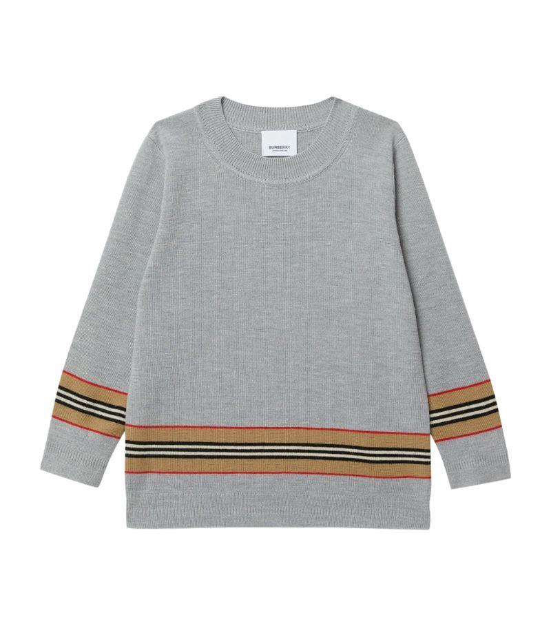 Burberry Kids Icon Stripe-Trim Sweater (3-12 Years)