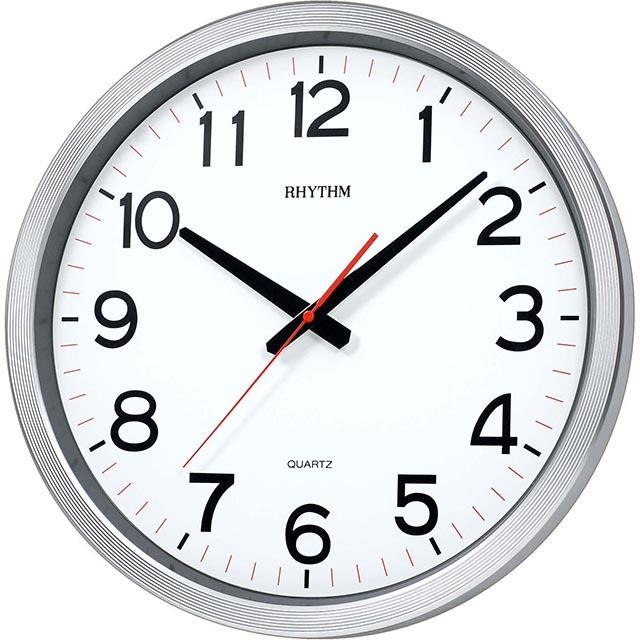 日本麗聲鐘-現代造型高品質清晰數字實用家居超靜音掛鐘