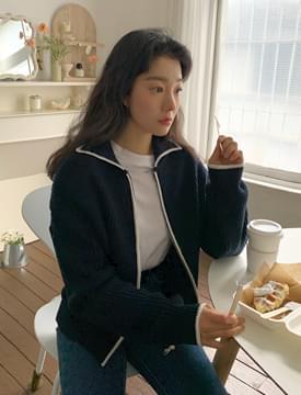 韓國空運 - Bonnie Line Knitwear Zip-Up 拉鍊外套