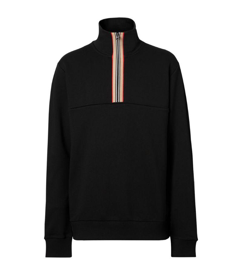 Burberry Half-Zip Icon Stripe Sweater