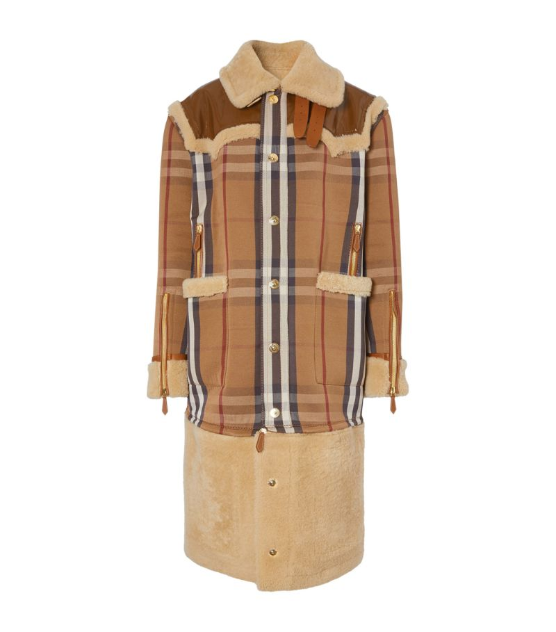 Burberry Shearling House Check Coat