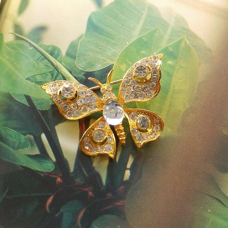 西洋古董飾品。氣質 優雅 蝴蝶 別針