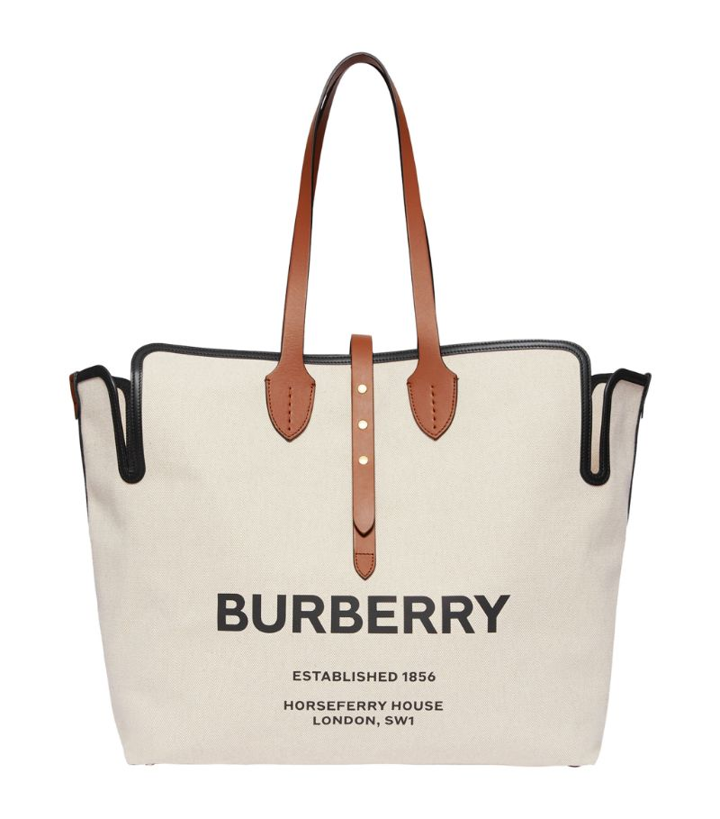 Burberry Large Logo Print Tote