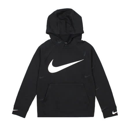 NIKE 男 B NSW FLC SWOOSH HOODED PO 連帽T(長) 黑 - DA0774010