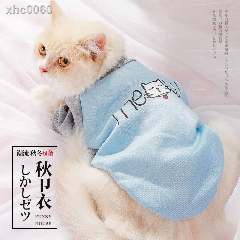 【現貨】﹍貓咪衣服可愛小貓貓寵物狗狗搞笑小奶貓藍貓幼貓英短無毛出行衛衣