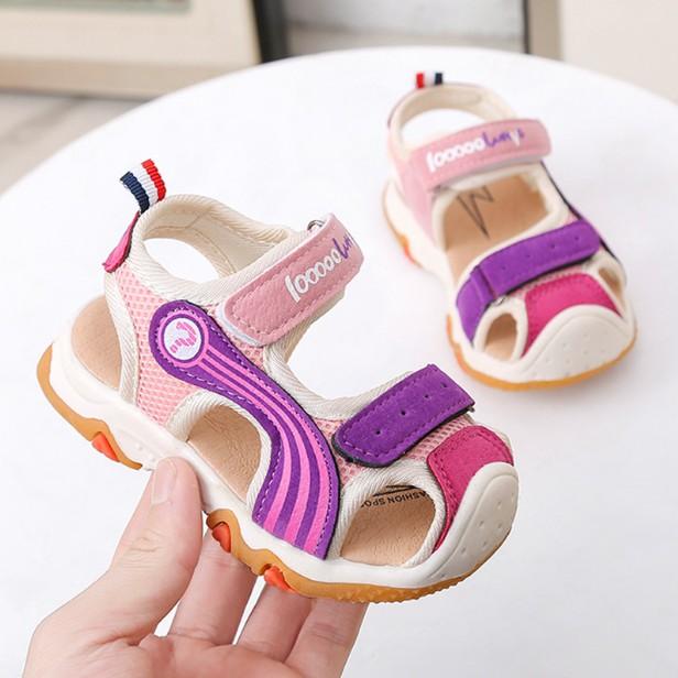 童鞋 兒童涼鞋 男童軟底寶寶鞋 膠底防滑學步鞋 嬰兒沙滩鞋 女童學步鞋[DM商城]