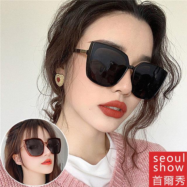 seoul show首爾秀 方框貓眼抖音網紅韓款太陽眼鏡UV400墨鏡 3349