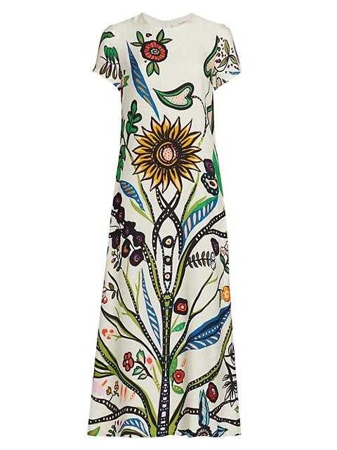 Edition 23 Floral Maxi T-Shirt Dress