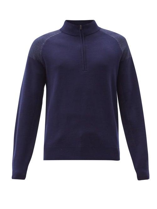 Kjus - Kulm High-neck Merino-wool Blend Sweater - Mens - Navy