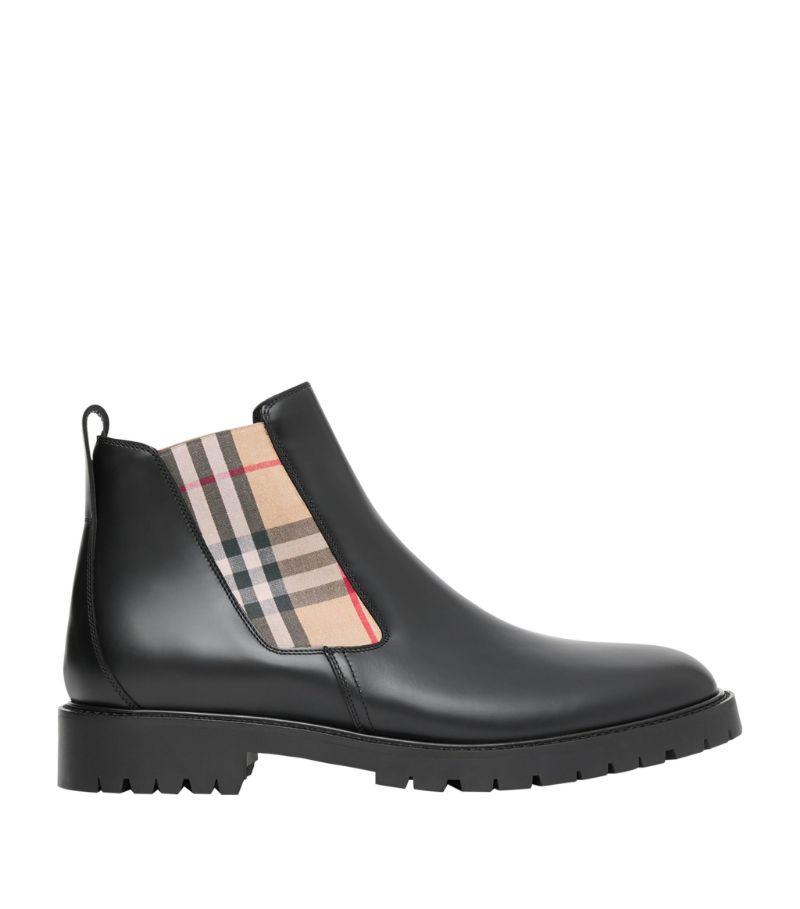 Burberry Vintage Check-Detail Chelsea Boots