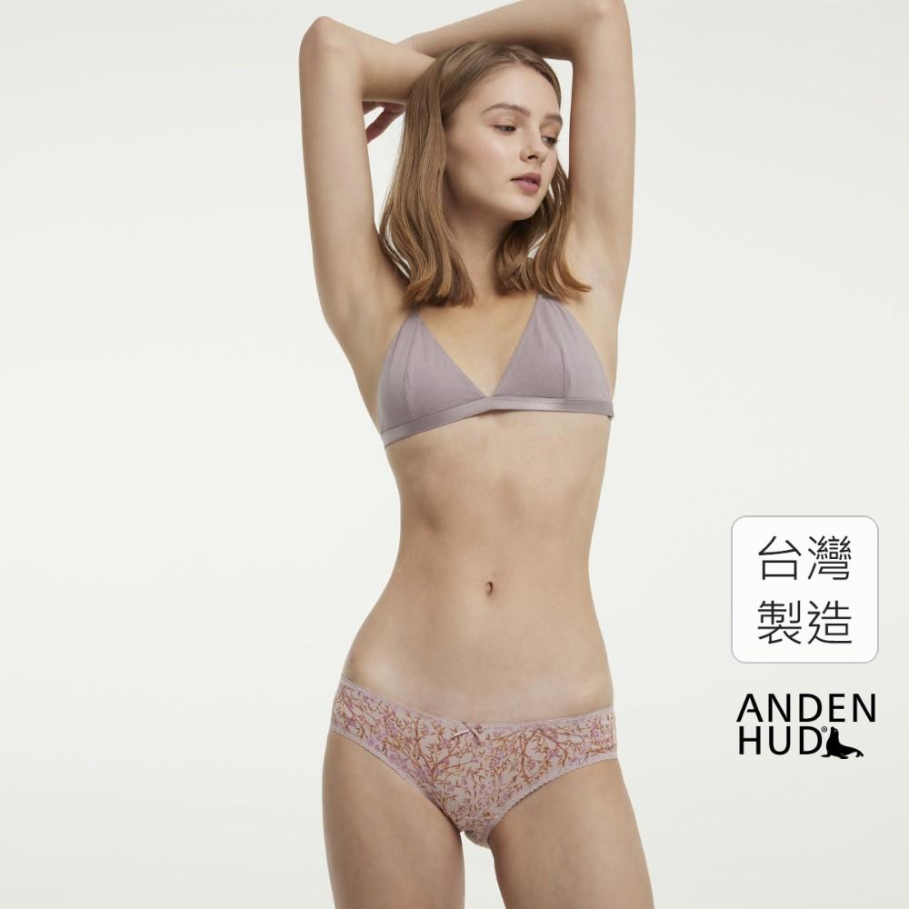 【Anden Hud】以花之名.花邊低腰三角內褲(粉-梅花林) 台灣製
