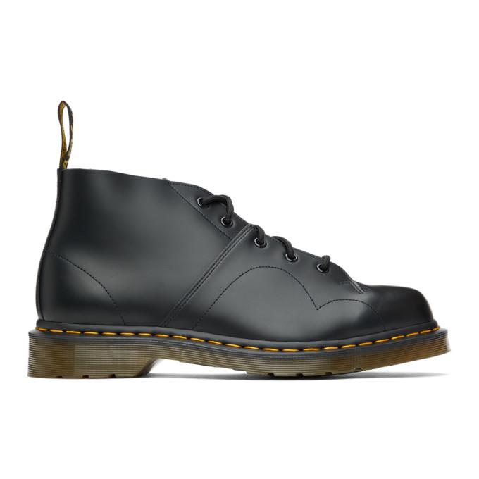 Dr. Martens 黑色 Smooth Church 牛津鞋