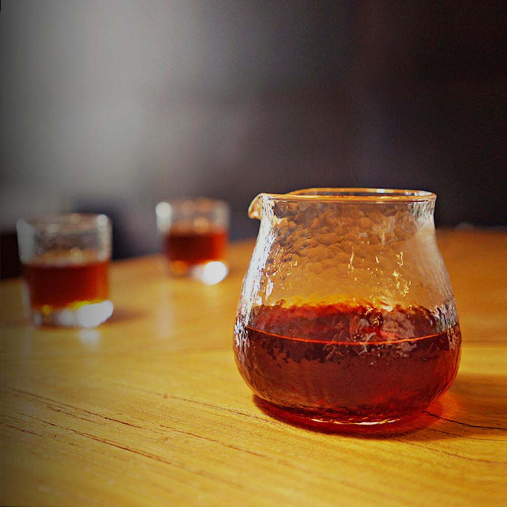 泰摩timemore錘目紋玻璃咖啡分享壺-無柄