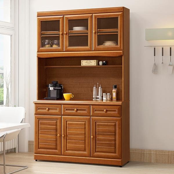 YoStyle 樟木4尺收納高櫃 碗盤收納櫃 電器櫃 櫥櫃 抽屜櫃 收納櫃 置物櫃 專人配送安裝