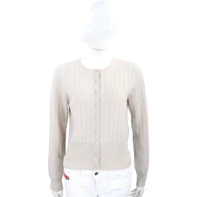 Max Mara 喀什米爾米色麻花針織開襟外套 羊毛衫