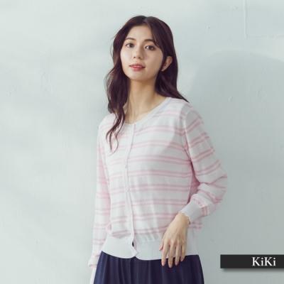 【KiKi】簡約線條外套-針織衫(三色)