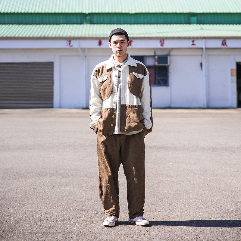 【Off-season sale】Hemp00 Casual Straight Pants -Khaki直筒褲