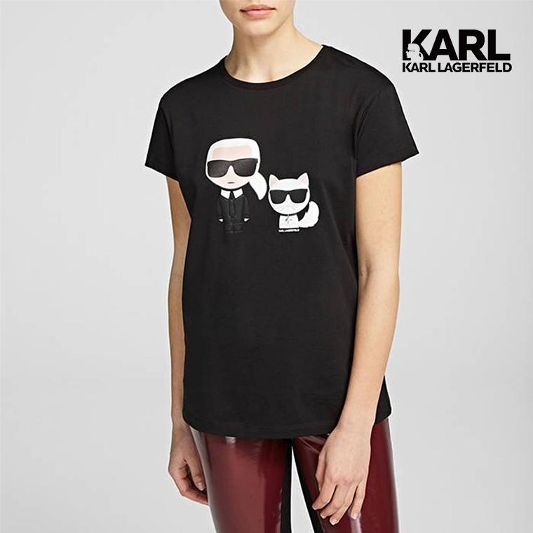 KARL LAGERFELD IKONIK&CHOUPETTE T恤-黑 (原廠公司貨)