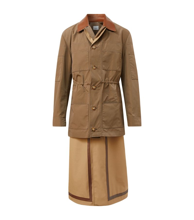 Burberry Field Jacket-Detail Car Coat