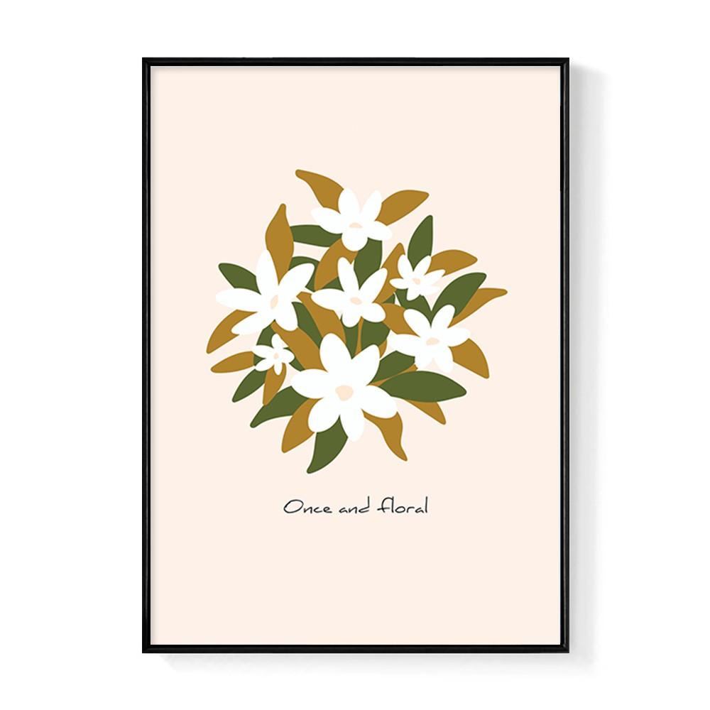 Once and Floral-玄關掛畫/臥房/複製畫/花/床頭櫃/新年佈置