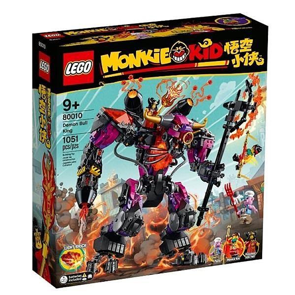 【南紡購物中心】【LEGO 樂高積木】悟空小俠 Monkie Kid 系列 - 牛魔王烈火機甲 (1051pcs)80010