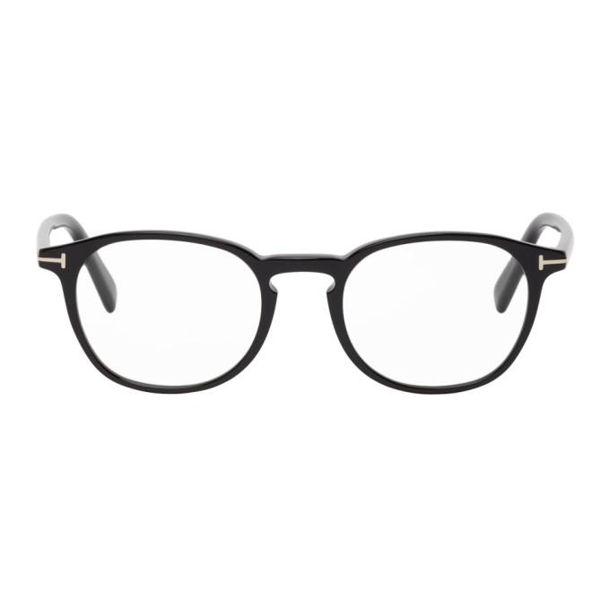 Tom Ford 黑色圆框防蓝光眼镜
