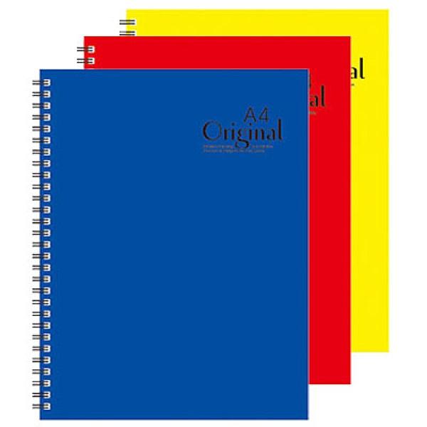 美加美 13K原色膠圈筆記(藍AD3101/紅AD3102/黃AD3103) 3本 / 包