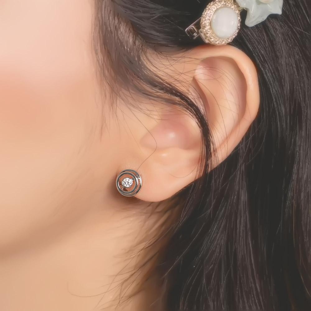 時間的旋渦925銀針耳環-A10402